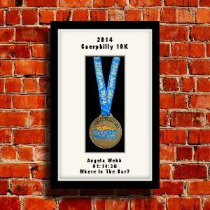 Personalised Black Marathon Medal Frames