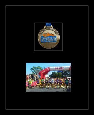 Marathon Medal Frame – S3-77i Black-Black Mount