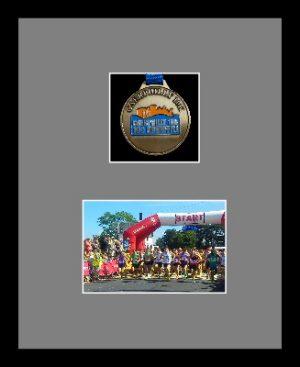 Marathon Medal Frame – S3-77i Black-Grey Mount