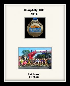 Personalised S3 Black Marathon Medal Frame