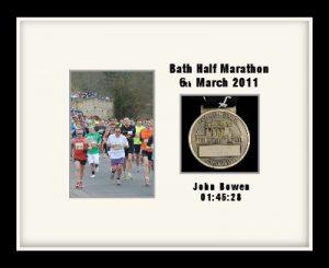 Personalised S4 Black Marathon Medal Frame