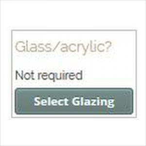 Picture frame designer chose glazing.