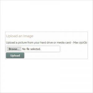 Picture frame designer upload image