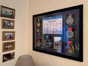 Custom made marathon medal frame